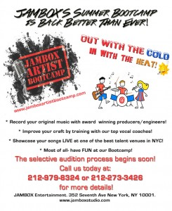 FINE TUNE YOUR TALENT IN THE 2014 JAMBOX SUMMER ARTIST BOOTCAMP (Ages 8-18)