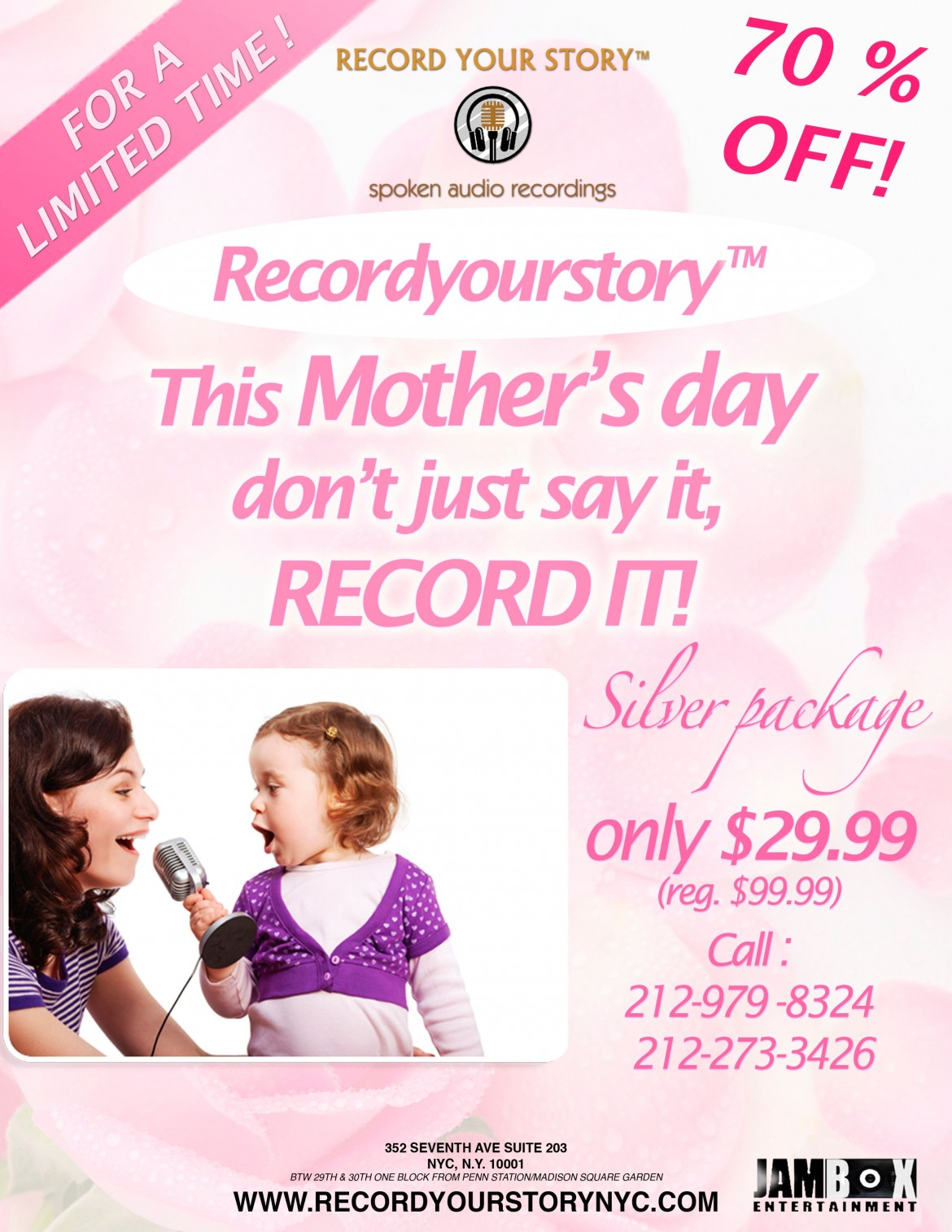 Need A Great Gift For Mom This Mother's Day? Check out RECORD YOUR STORY™ at JAMBOX!