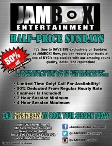 """Half-Priced"" Sundays"