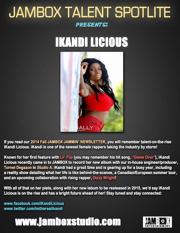 JAMBOX Talent Spotlite- iKandi Licious72dpi
