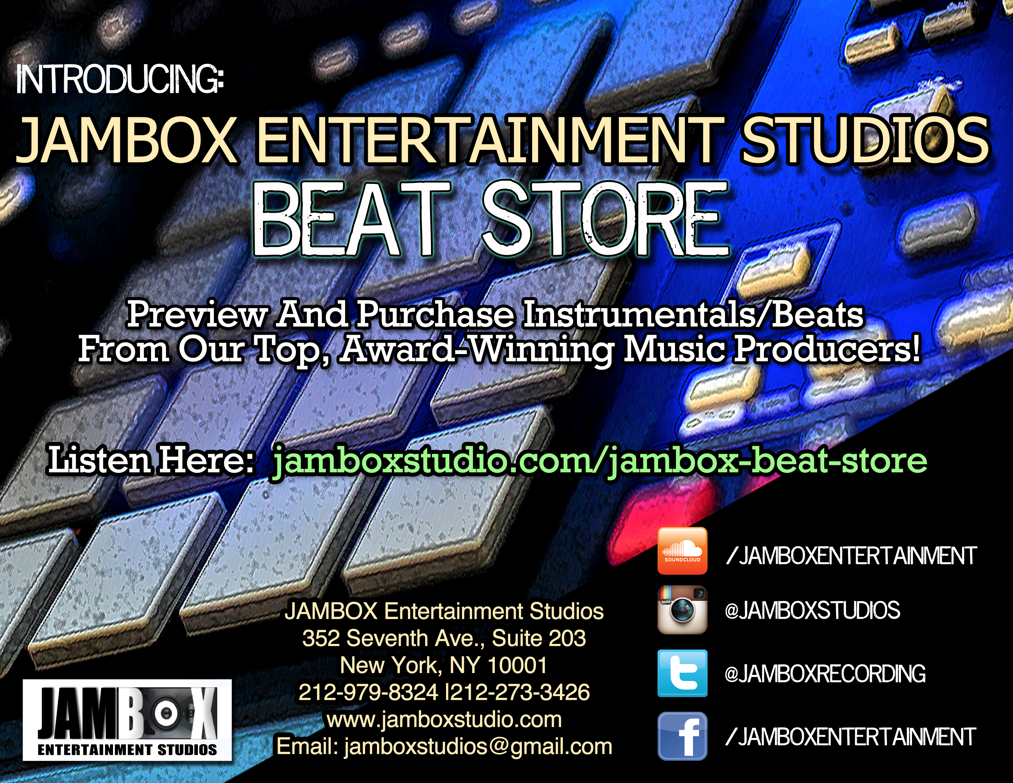 JAMBOX Beat Page Flyer